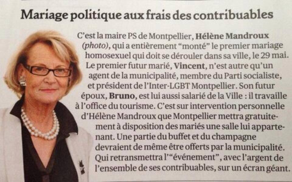Parodie de mariage à Montpellier mariage-aux-frais-du-contribuable