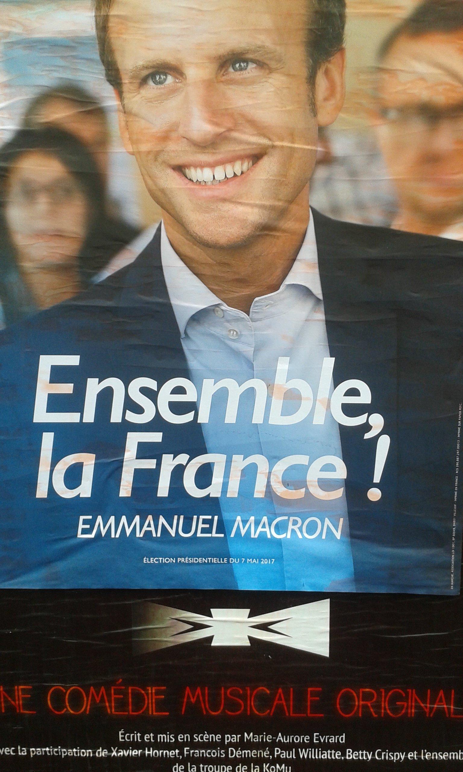 Macron comédie musicale